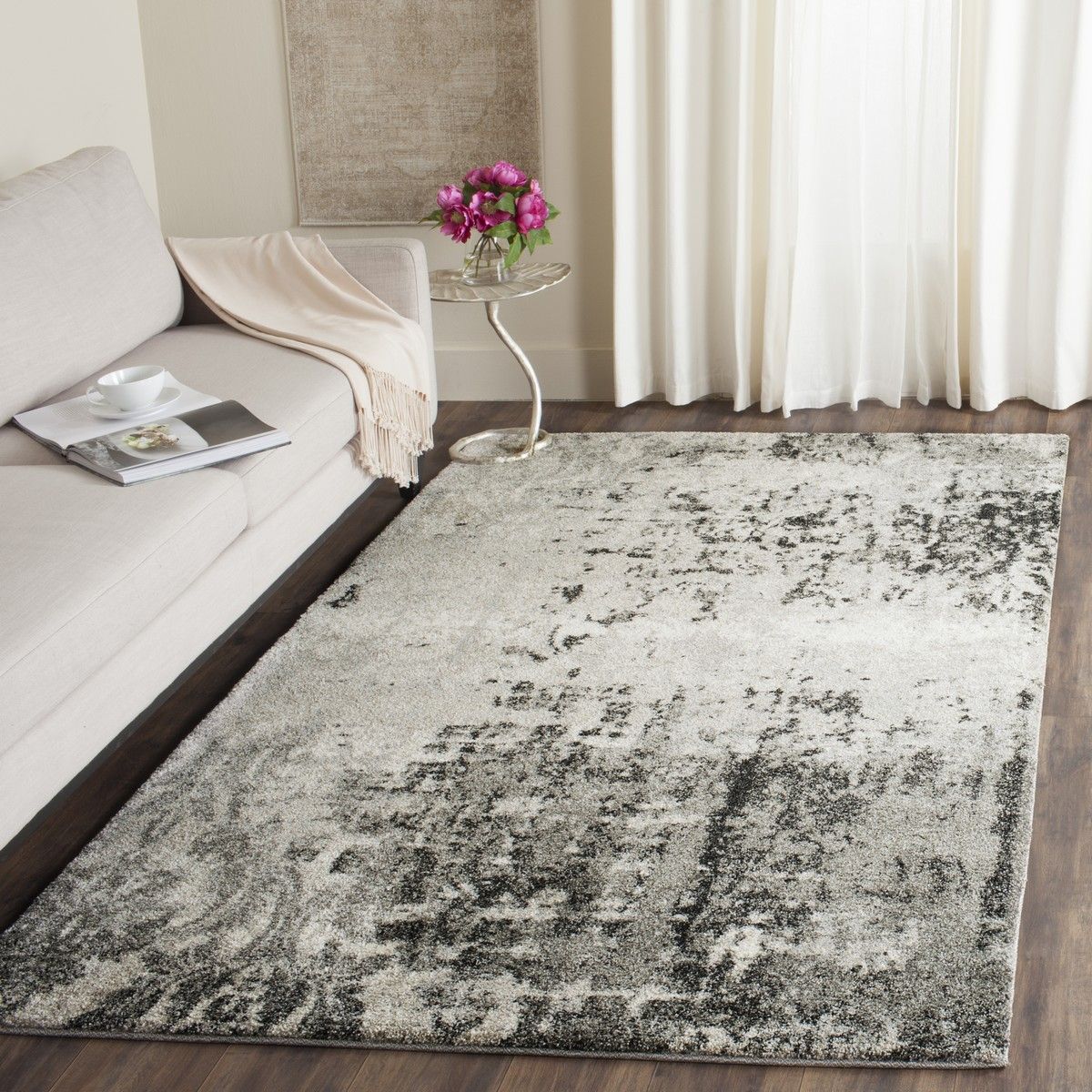 Retro Rugs Grey 1960 S Styled Rug Safavieh Com