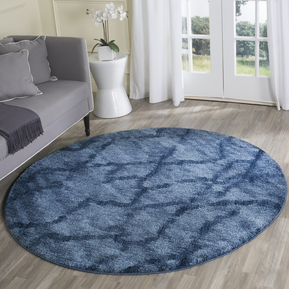 Two-Toned Blue Rugs - Safavieh