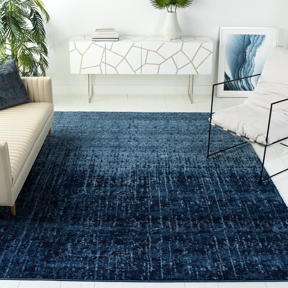 Blue Outdoor Rug 9x12: Retro Rugs Collection - Safavieh.com
