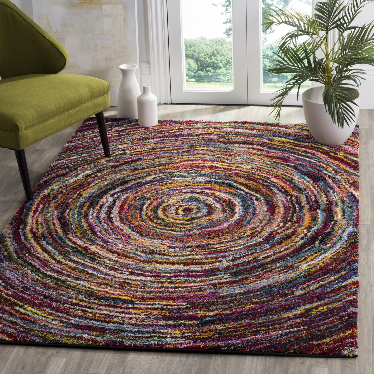 Colorful shag rug fiesta shag collection safavieh - Colorful rugs for living room ...