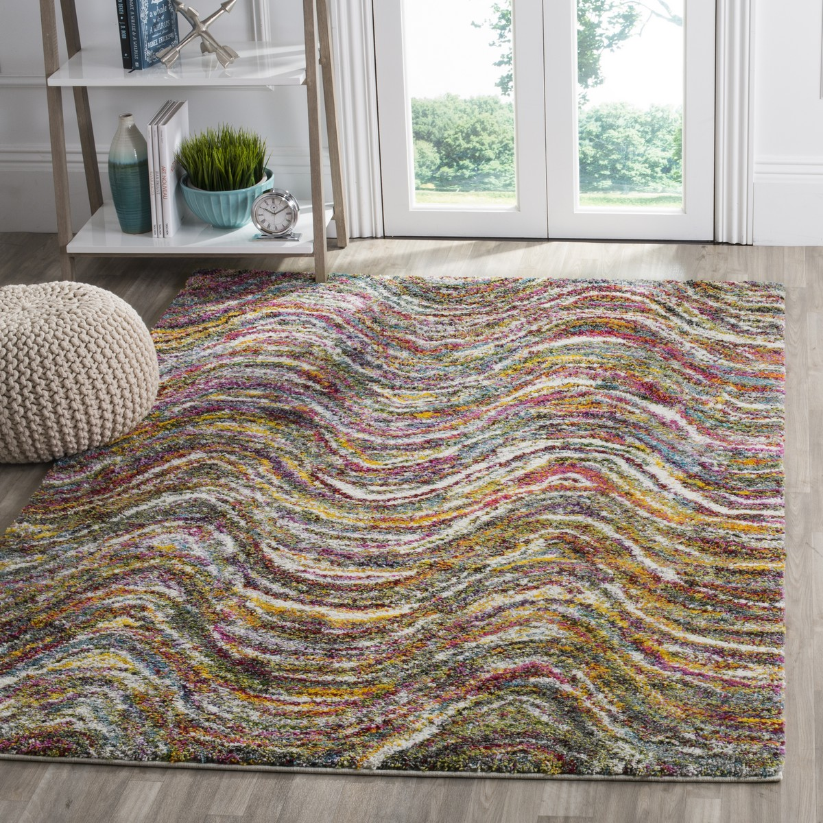 Colorful Shag Rug Fiesta Collection Safavieh Com