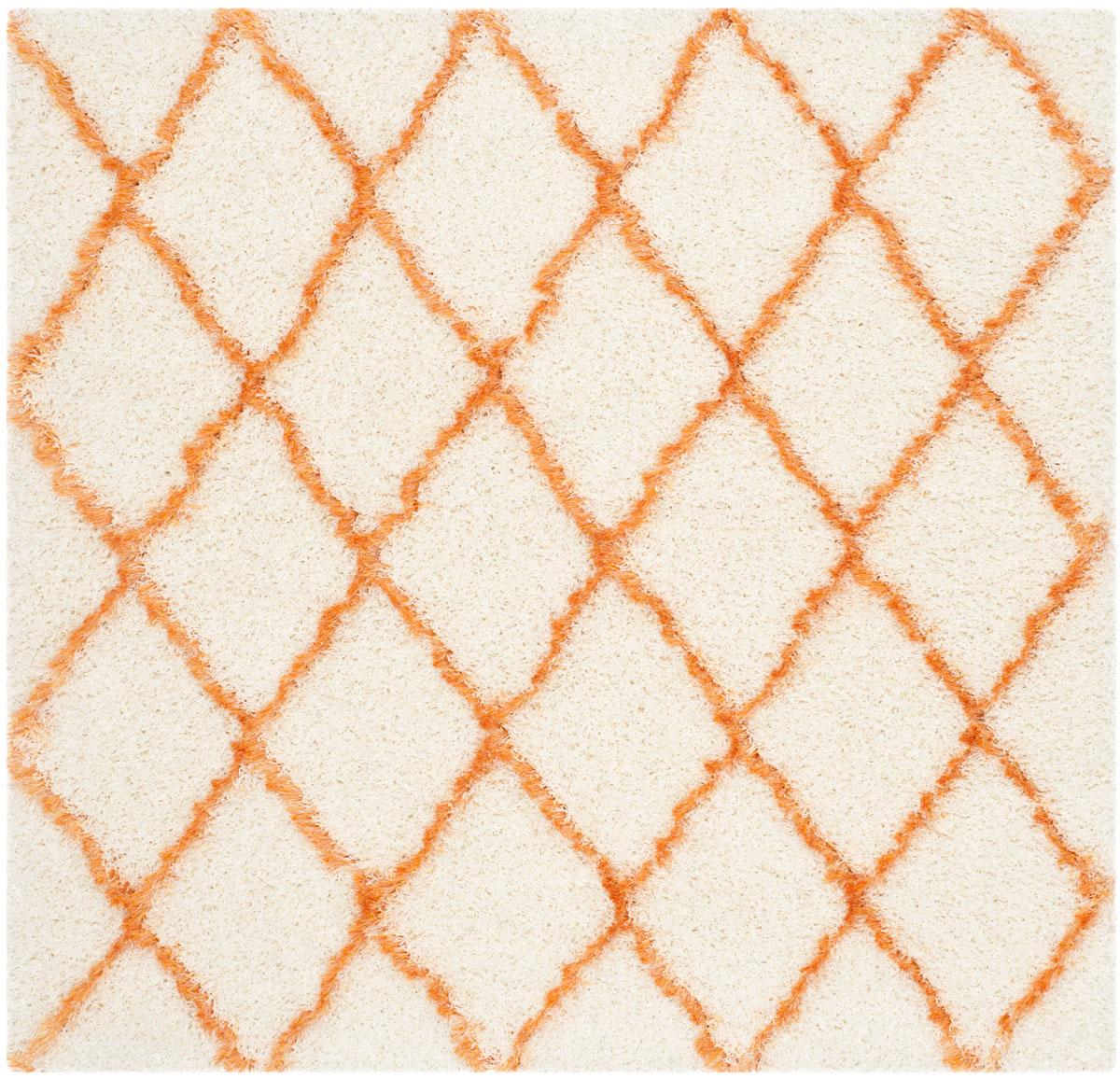 Ivory & Orange Shags - Safavieh
