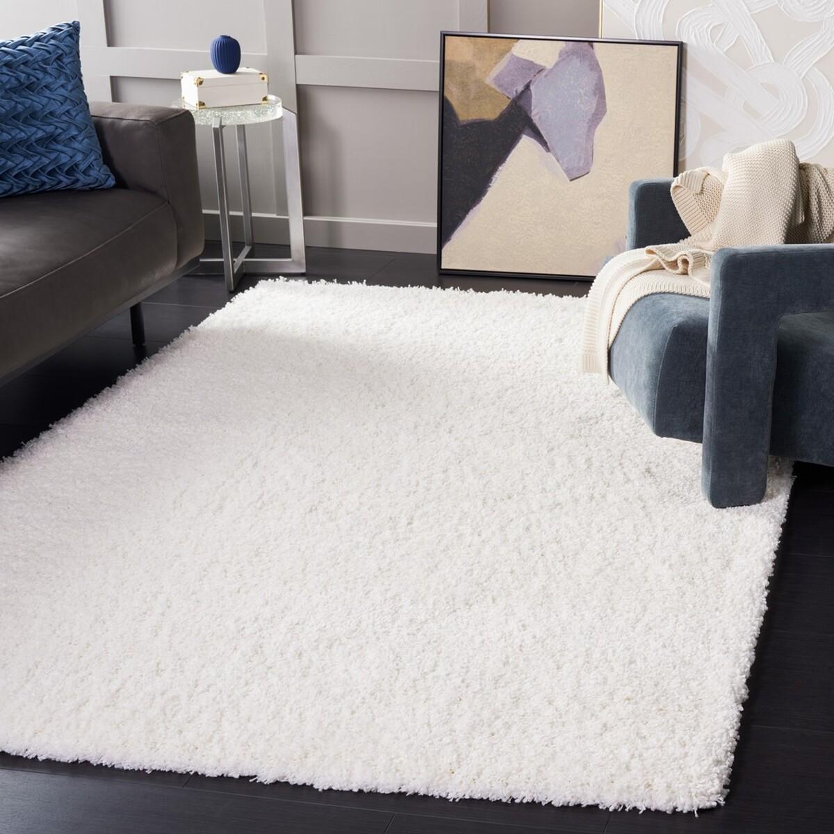 faux sheepskin rug 60x90cm white