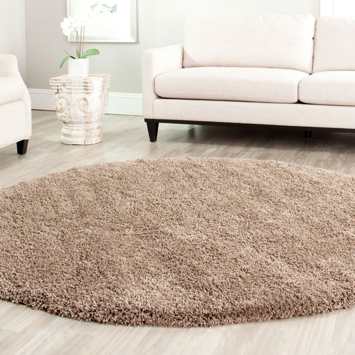 Living Room Shag Rug By Soft Taupe California Collection Safavieh