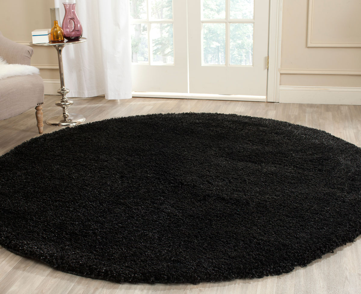 Thick Pile Black Shag Rug California Shags Safavieh Com