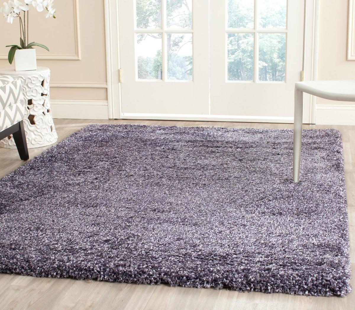 sg1657373 new york shag shag purple soft deep superior high pile shag rug 150 x 230cm