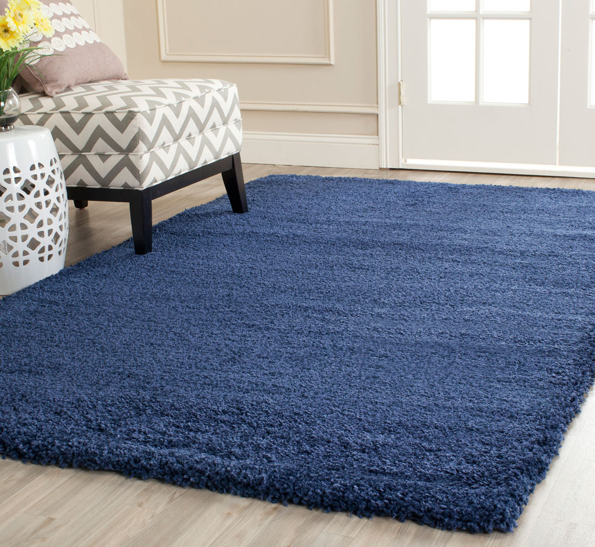 listing rectangle shaggy navy zoom rugs luxurious nonslip rich blue rug area fullxfull il