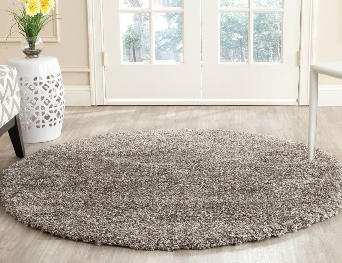 Thick Pile Grey Shag Rug Milan Collection Safavieh Com