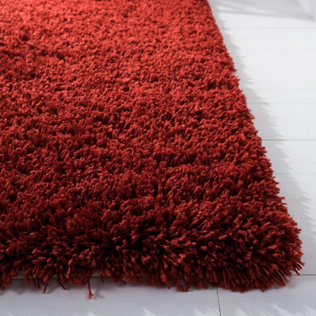 Rust Colored Shag Area Rug Safavieh Com