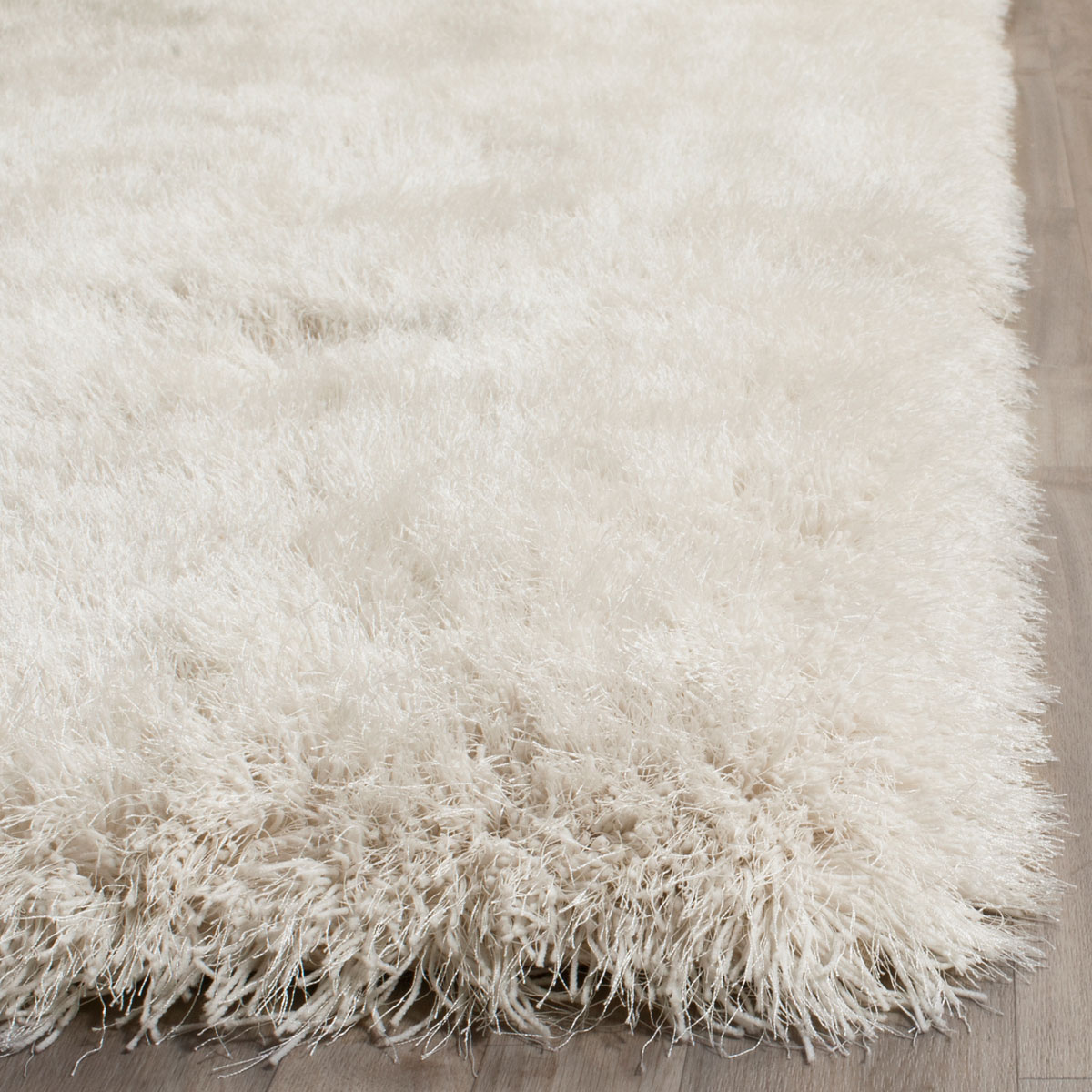 Plush Pearl White Shag Venice Shag Collection Safavieh