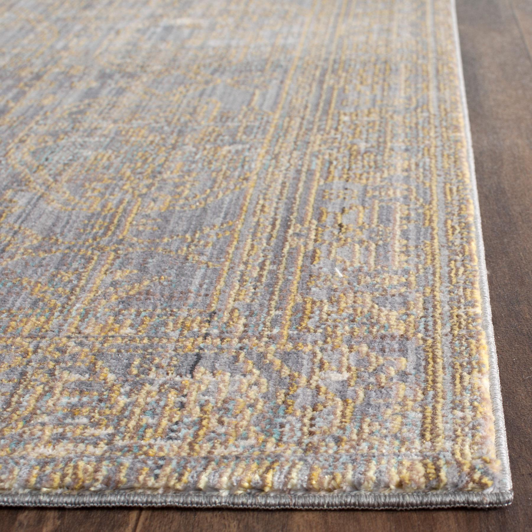 Gold Amp Grey Area Rug