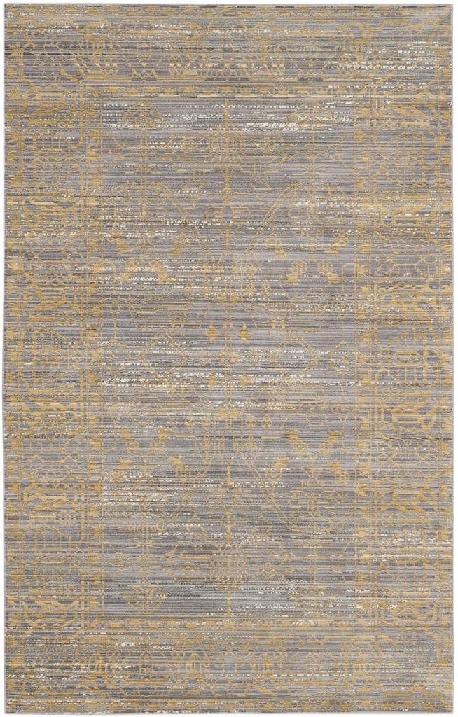 Gold Amp Grey Area Rug Valencia Transitional Rugs Safavieh