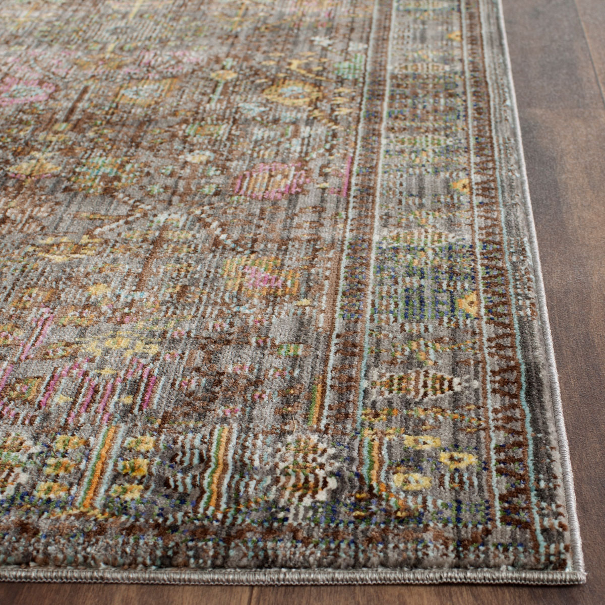 Grey Floral Design Area Rug Safavieh Transitional Rugs