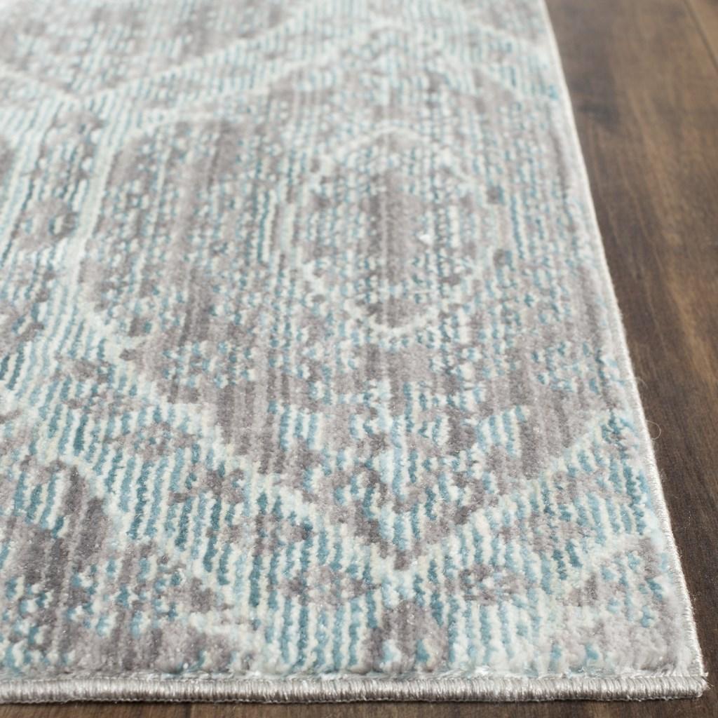 Mod Watercolor Carpet Alpine Blue Amp Mauve Rugs Safavieh