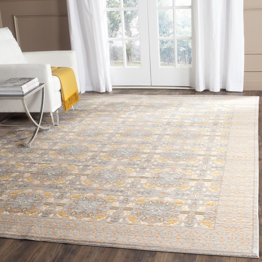 Orange Amp Grey Tile Pattern Area Rug Val210f Safavieh Com