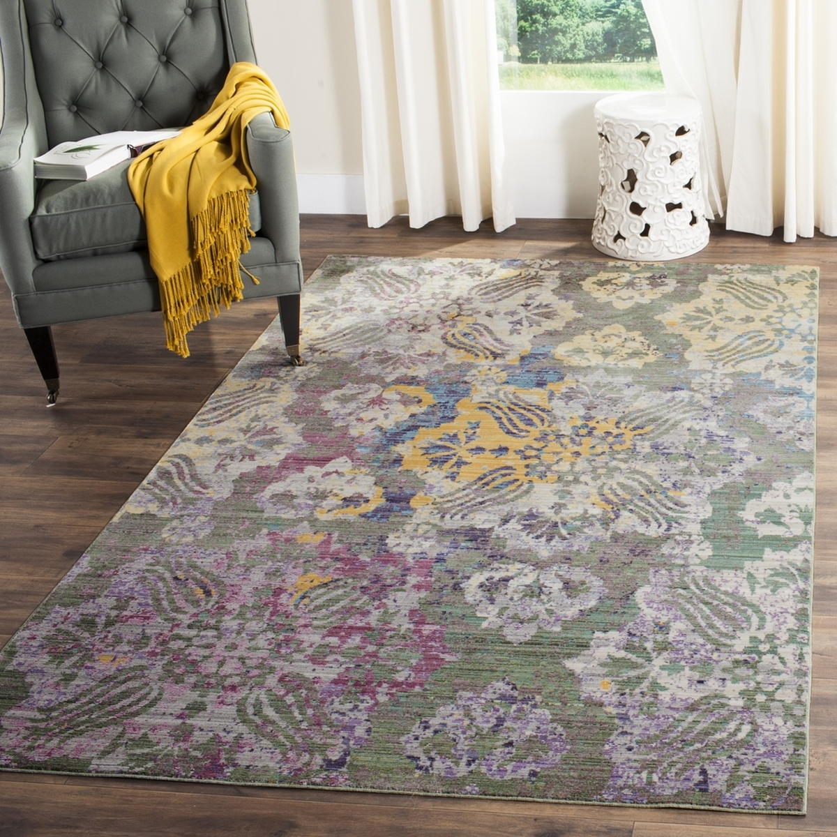 Valencia Floral Watercolor Rug Safavieh Com