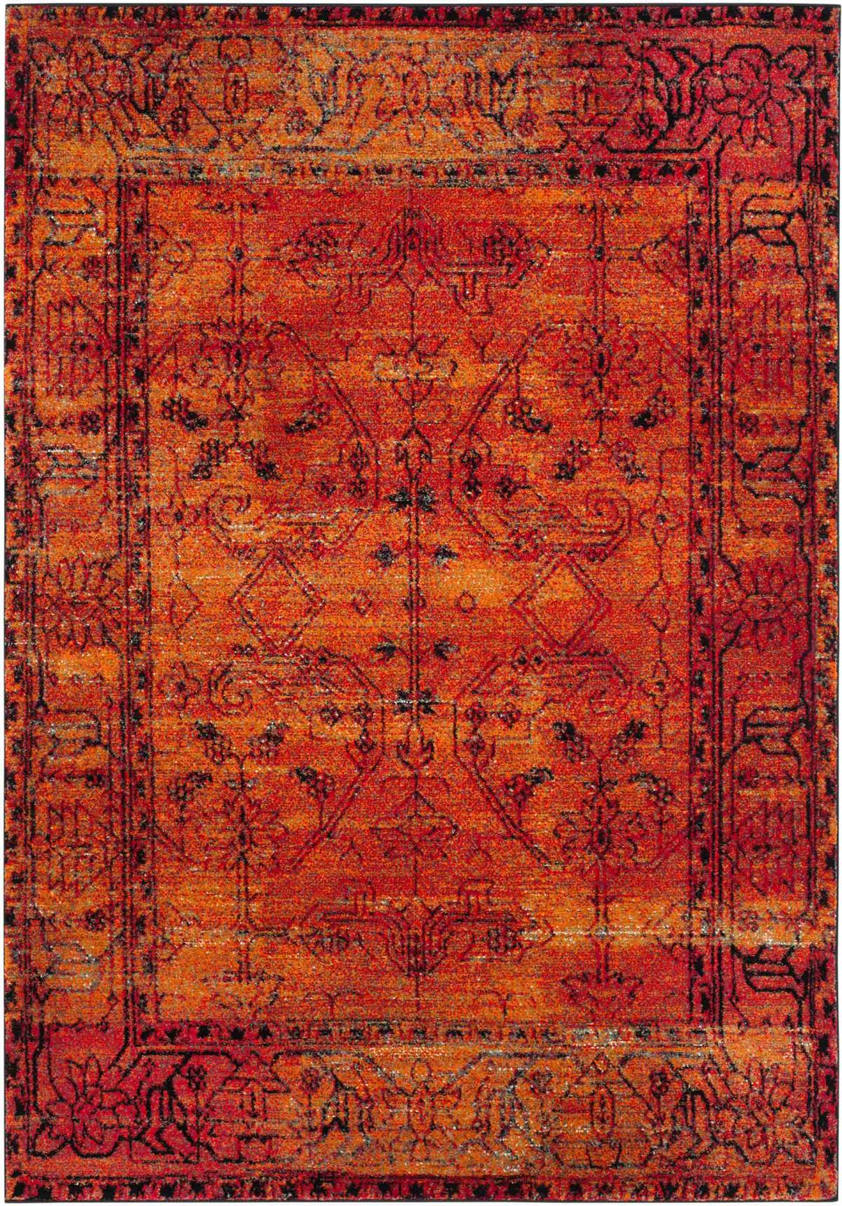 Rug vth216c vintage hamadan area rugs by safavieh for Area carpets and rugs