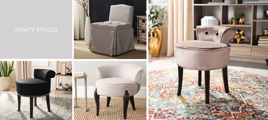 Enjoyable Vanity Stool Make Up Benches Safavieh Com Machost Co Dining Chair Design Ideas Machostcouk