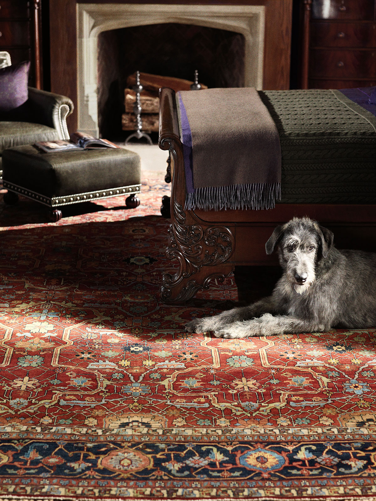 Ralph lauren rugs safavieh designer rugs - Deluxe persian living room designs with artistic rug collection ...