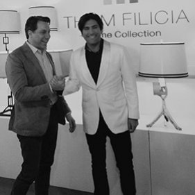 2014: Thom Filicia Lighting for Safavieh debuts at Las Vegas Market in January with chandeliers, table lamps and floor lamps